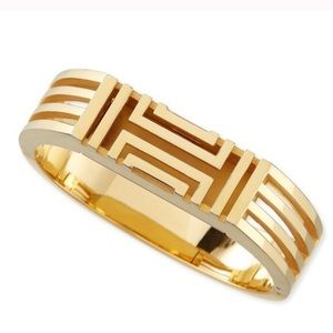 Tory Burch Fitbit Flex Metal Hinged Gold Bangle